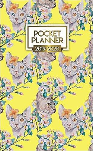 2019-2020 Pocket Planner: Pretty Sphynx Cat Lover Two-Year ...