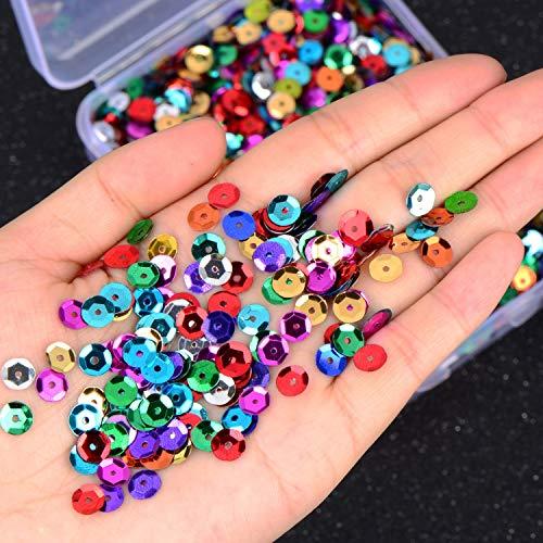 Paquete de 12 unidades de cuentas delgadas, con purpurina en polvo y lentejuelas, paquete con purpurina para uñas, esmalte de uñas, álbumes de recortes, ...