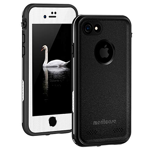 iPhone 7 Waterproof Case, iPhone 8 Waterproof Case, Underwater Full Sealed Cover IP68 Dustproof Snowproof Shockproof with Built in Screen Protector Phone Case for iPhone 7/iPhone 8 4.7 inch (White)
