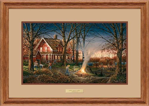 Autumn Evening Framed Encore Print by Terry Redlin by Wild Wings