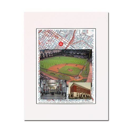 Minute Maid Park, former Union Station, home of the 2017 World Series champion Houston Astros, art print. Enhance your home or office. Gallery quality. Matted and ready-to-frame. - Houston Astro Stadium