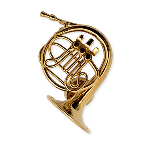 Gold French Horn Miniature Replica Magnet, Size 1.25 (Horn Magnet)