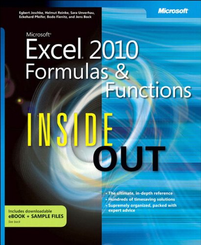 Microsoft Excel 2010 Formulas and Functions Inside Out Pdf