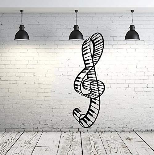 wassaw Vinilo Tatuajes De Pared Music Note Tatuajes De Pared Clave ...