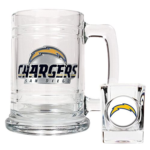(NFL San Diego Chargers Boilermaker Set (Primary Logo))