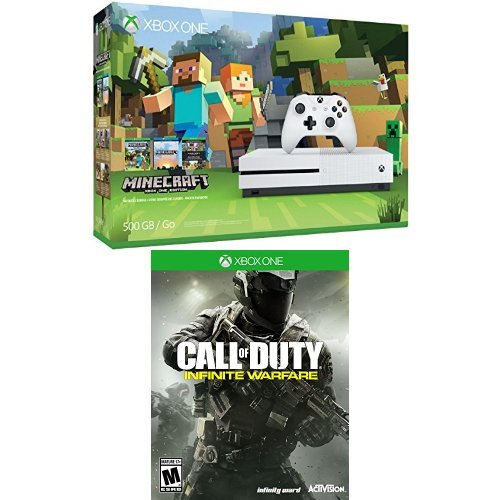 Xbox One S 500GB Console - Minecraft Bundle + Call of Duty Infinite Warfare Game