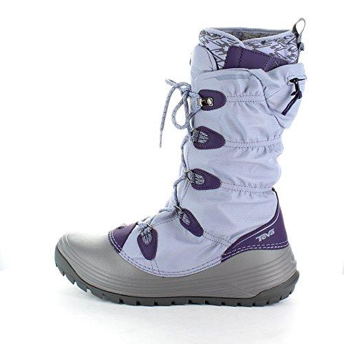 Teva Ladies Jordanelle 3 WP Waterproof Winter Snow Boots 1005216 Blue Lavender Ash