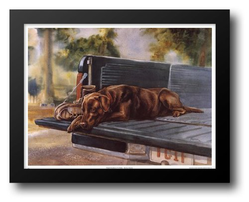Choc Lab (Thank Goodness It's Friday (Choc. Lab) 29x23 Framed Art Print by Shipman, Barbara)