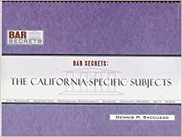 Bar Secrets: The California-Specific Subjects