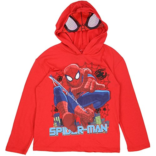 Marvel Little Boys' Spiderman Long Sleeve Tee with Hood and Mask (4)
