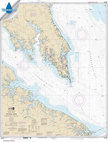Paradise Cay Publications NOAA Chart 12233: Potomac River Chesapeake Bay to Piney Point 35.4 x 46.4 (WATERPROOF)
