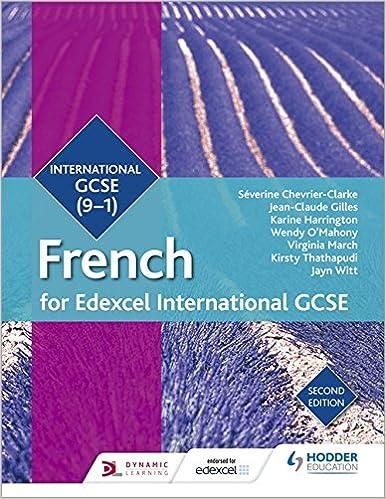 Edexcel International GCSE French Student Book Second