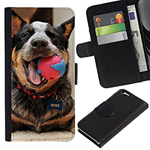 Graphic Case / Wallet Funda Cuero - Australian Cattle Dog Playing Happy Canine - Apple iPhone 6 4.7