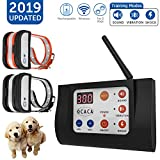 OCACA 2019 Updated Remote Dog Training Collars with Wireless Dog Fence 2 in 1 System, Outdoor...