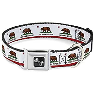 California State Flag Dog Collar