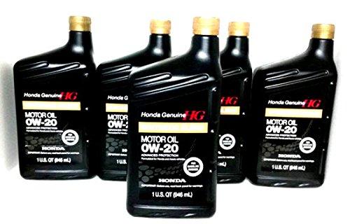 Honda Genuine Motor Oil 0w-20 Synthetic Blend 5 Quart 08798-9036