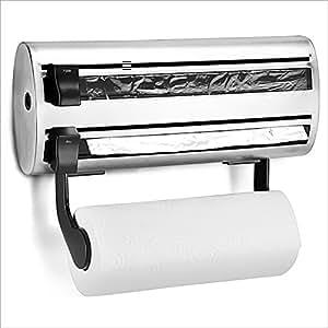Soporte para rollos de papel Cocina Dispensador de papel Acero