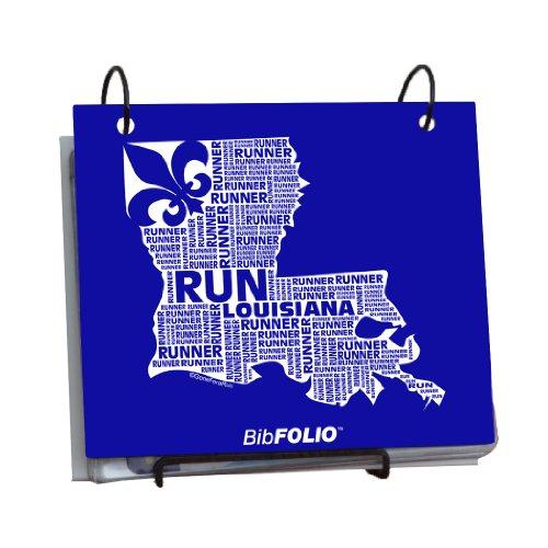 Gone For a Run Louisiana State Runner BibFOLIO   Runner's Race Bib Holder and Album  Royal (Louisiana State Runner)