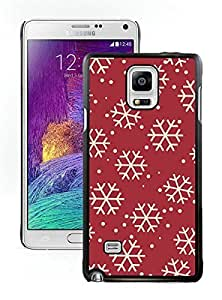2014 Latest Christmas Snowflake Black Samsung Galaxy Note 4 Case 12