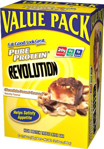 Pure Protein Revolution Value Pack, Chocolate Peanut Caramel, 6 - 1.76 oz Bars