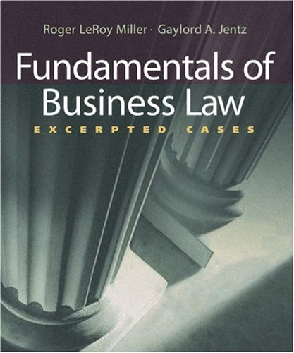 Fundamentals of Business Law: Excerpted Cases (with Online Legal Research Guide) (Available Titles CengageNOW)