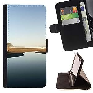 Momo Phone Case / Flip Funda de Cuero Case Cover - Río del desierto - Minimalista;;;;;;;; - Samsung Galaxy E5 E500