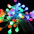 4M 40 LED Ball Styled String Lights Battery Operated for Christmas, Partys, Wedding, New Year Decorations, etc. (Multi-color)