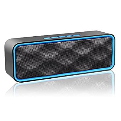 Wireless Bluetooth Speaker, S1 Outdoor Portable Stereo Speaker with HD Audio and Enhanced Bass, Built-In Dual Driver Speakerphone, Bluetooth 4.0, Handsfree Calling, FM Radio and TF Card Slot