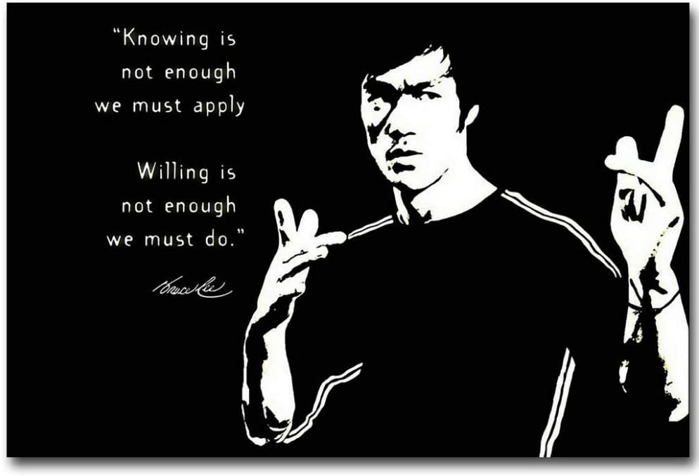 Bruce Lee Motivational Quote Canvas Wall Art
