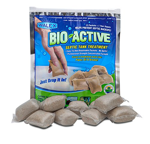 Bio-Active Walex BIO-31112 Septic Tank Treatment Drop-Ins (1 Year Supply)
