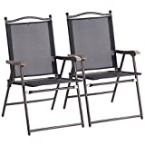 Best Set With Folding - Giantex Set of 2 Folding Sling Back Chairs Review