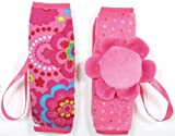 Tuc Tuc Newborn to Toddler Pink Car Seat Harness Pads, Strap Cover Buddies. Chip Chip Collection., Baby & Kids Zone