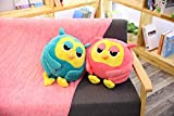 green kirby plush - Big Owl Plush Toy 1pc 50cm with Blanket Cute Giant Large Stuffed Soft Doll Pillow for Kids Children Gift Kawaii Hand Warm (Green)
