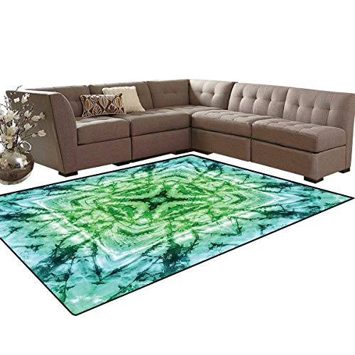Psychedelic Door Mats Area Rug Abstract Square Shaped Kaleidoscope with Murky Psychedelic Expansions Pattern Anti-Skid Area Rugs 6