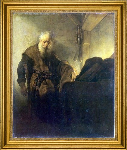 Art Oyster Rembrandt Van Rijn St Paul at his Writing-Desk - 20.05