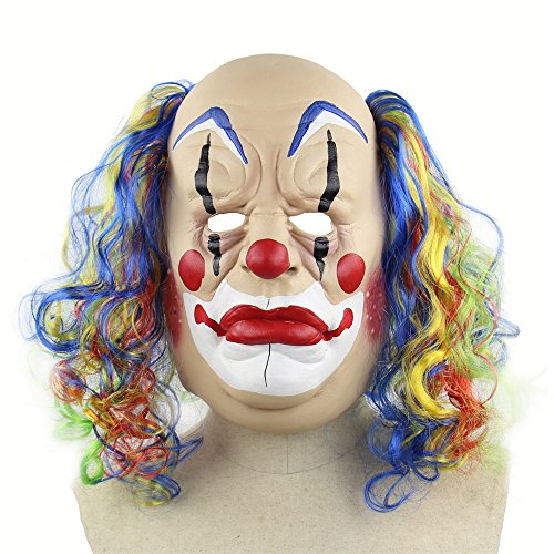 Novelty Clown Mask Scary Latex Mask Halloween Decoration