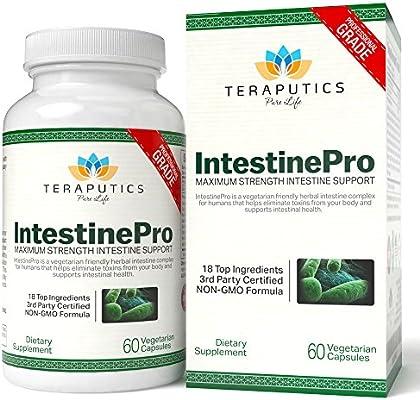 IntestinePro Intestine Support for Humans with Non-GMO Wormwood, Black Walnut, Echinacea + 15 More Premium Ingredients, 60 Vegetarian Capsules