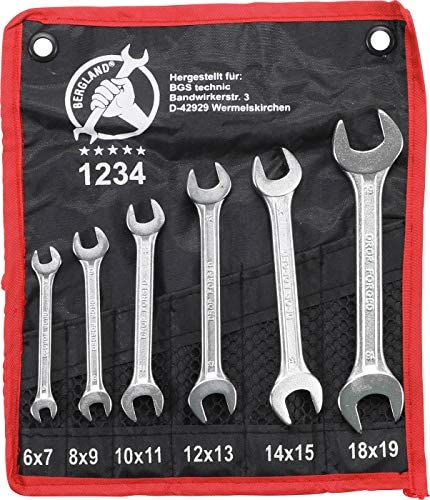 BGS 30614 Double Open End Spanner 14x15 mm