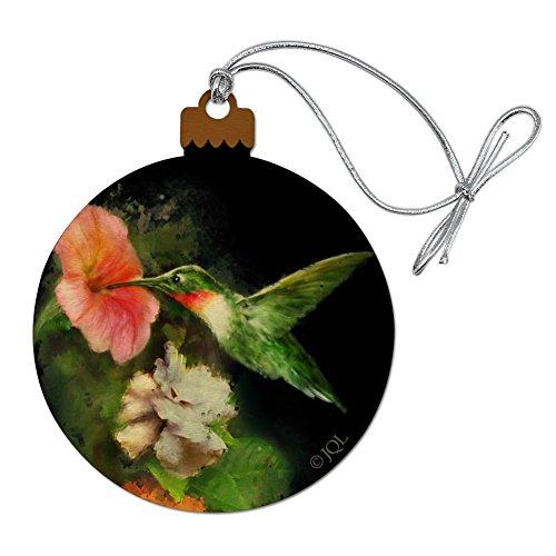 (GRAPHICS & MORE Ruby's Hummingbird Flower Garden Wood Christmas Tree Holiday Ornament)