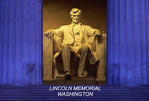 DC District of Columbia USA United States Fridge Refrigerator Magnets (3 Pieces, Style: Lincoln Memorial Washington #N1)