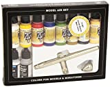 Av Vallejo Model Air Set - Ultra Airbrush + 10 Basic Cols