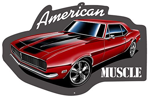 Garage Art Signs American Muscle Car Laser Cut Out with 3D Effect Sign 13.8x21.3