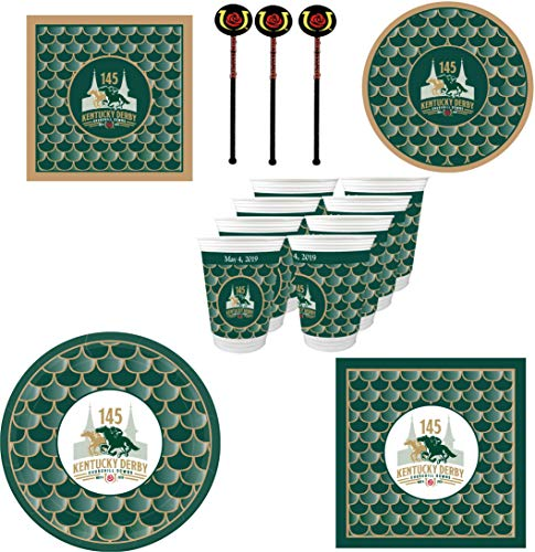 Westrick 145th (2019) Kentucky Derby Party Supplies 132 Pieces ()