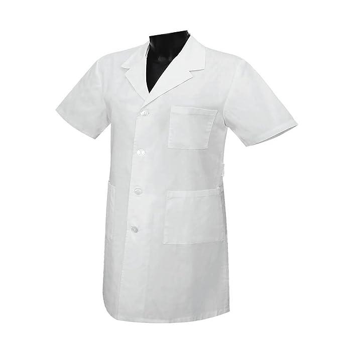 MISEMIYA - Bata Unisex Cuello Solapa Mangas Cortas Uniforme Laboral CLINICA Hospital Limpieza Veterinaria SANIDAD HOSTELERÍA - Ref:8162 - XXL, ...