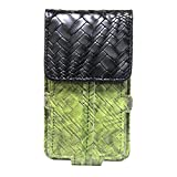 Jo Jo A6 Bali Series Leather Pouch Holster Case For Micromax JOY X1850 Green Black