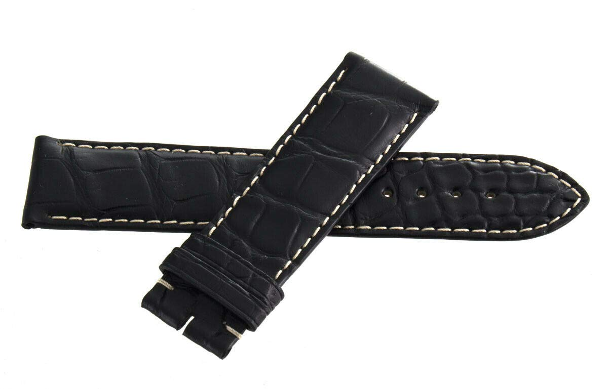 Genuine Longines 22mm x 20mm Black Alligator Leather Watch Band Strap L682119491 by Genuine Longines (Image #1)