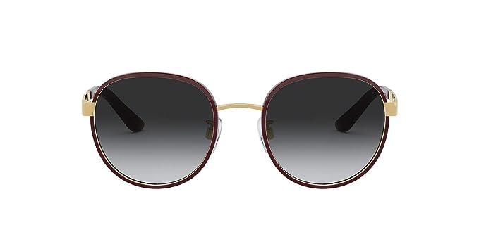 Dolce & Gabbana 0DG2227J Gafas de sol, Bordeaux/Gold, 52 ...