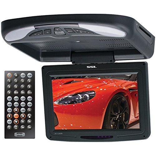 SOUND STORM S11.2CBL 11.2 inch Widescreen Flipdown & Swivel Monitor with DVD player, Wireless Remote ()