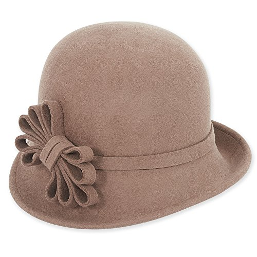adora-womens-wool-felt-cloche-bucket-winter-hat-with-bow-trim-b-pecan