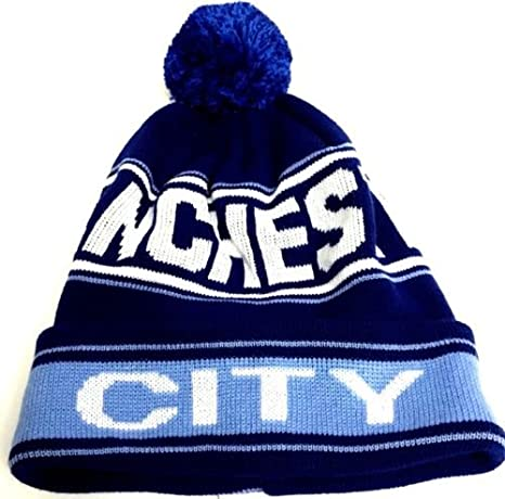 9ee838764de Image Unavailable. Image not available for. Color  Manchester City Pom Pom  Hat CITY Bobble Hat